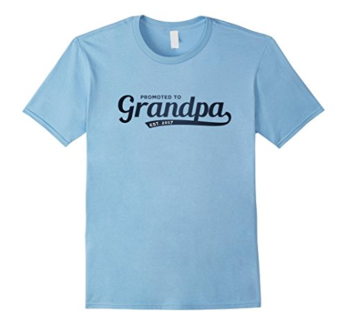 First Time Grandpa Gifts - Mens Mens Promoted to Grandpa 2017 Graphic Tshirt Top XL Baby Blue