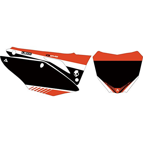 Attack Graphics Custom Turbine Full Coverage Number Plate Backgrounds White/CR Red - Fits: Honda XR650L 2012-2019