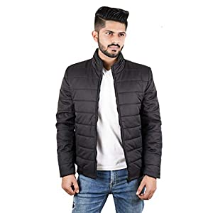 Street27 Men's Quilted Bomber Windbreaker Winter Waterproof Warm Casual/Outdoor Zipper Stand Collar Jacket