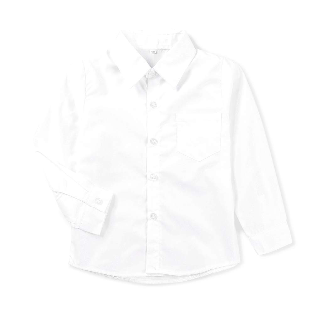 Phorecys Boys Long Sleeve Easy Care Plain Shirt