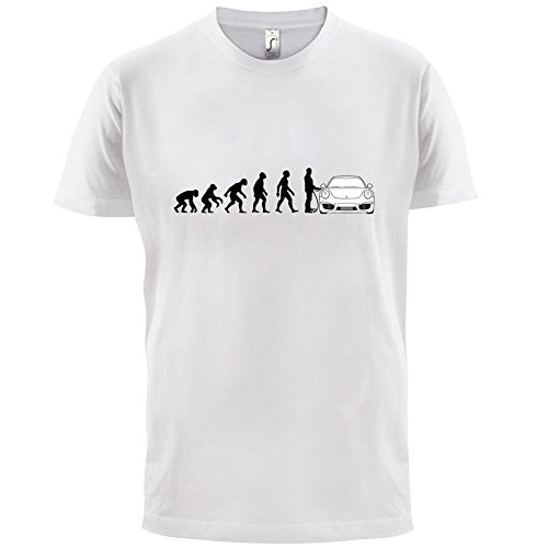 Evolution of Man - 911 Fahrer - Herren T-Shirt - Weiß - M
