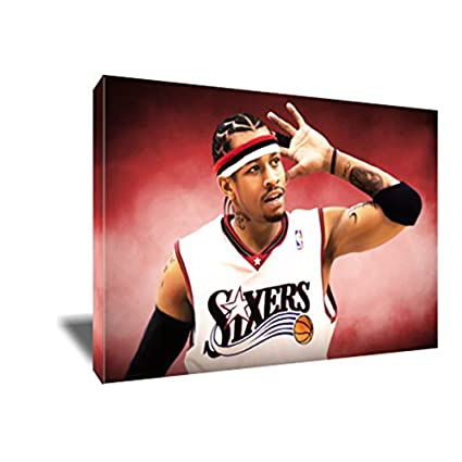 0554d9bf6785e Amazon.com: Hall of Fame Icon ALLEN IVERSON Canvas Painting Poster ...