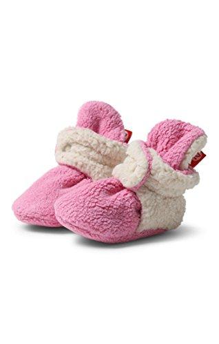 Zutano Unisex Baby Fleece w/ Furry Baby Booties, 6M ,Hot Pink Furry (Girls Socks Zutano)