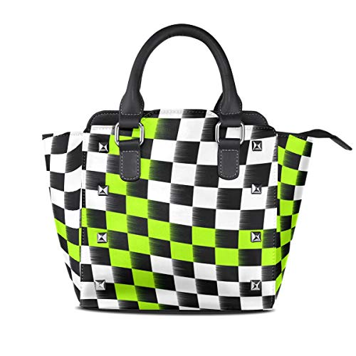 DEZIRO Checkered Flag Handbag purse for daily use ()