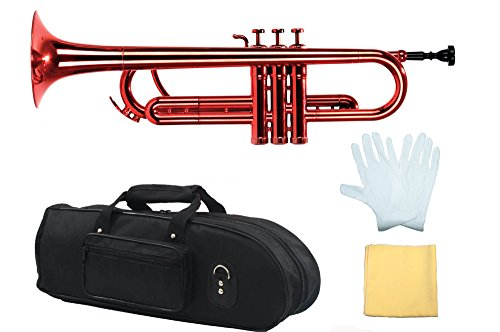 Estella PTR200MRD Bb Plastic Trumpet, Metallic Red by Estella