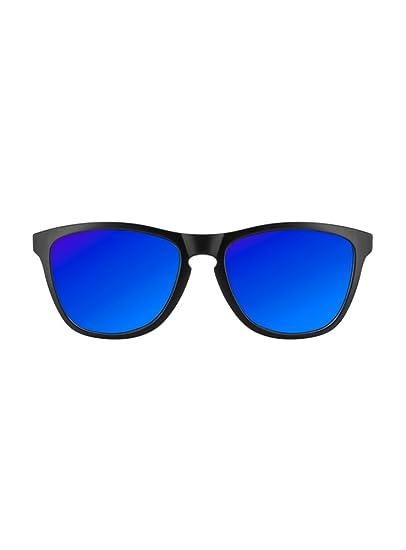 KOALA BAY Gafas Palm Beach Bicolor Negro Azul Mate Lentes Azul Espejo: Amazon.es: Ropa y accesorios