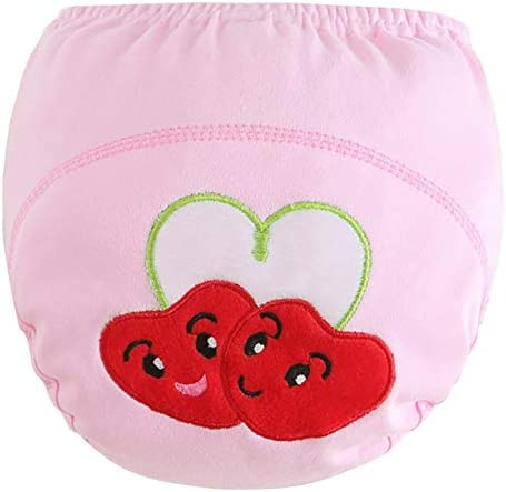 Achiyi Baby Boys Girls Training Pants Training Underwear Reusable Waterproof Toddler Potty Cute Embroidery Pants 4 Pack