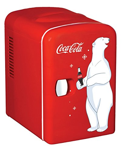 Coca-Cola KWC-4 4 Liter/6 Can Portable Fridge/Mini Cooler for Food