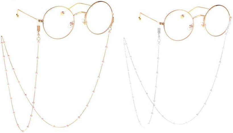 Rmeet Cadena para Gafas de Sol,2 Pack Soporte de Cadena para Gafas Sujetador Cord/ón de Sujeci/ón para Lectura Decoraci/ón Deportes Aire Libre
