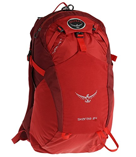 Osprey Packs Skarab 24 Hydration Pack, Inferno Red, Medium/Large
