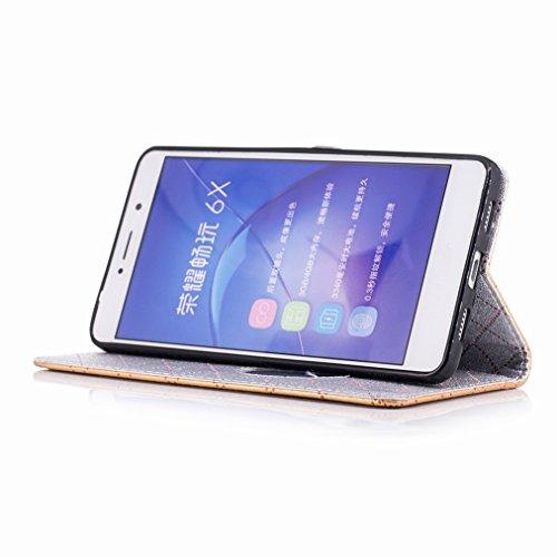 Yiizy Huawei Honor 6X (Huawei GR5 2017) Funda, Amar Diseño Solapa Flip Billetera Carcasa Tapa Estuches Premium PU Cuero Cover Cáscara Bumper Protector Slim Piel Shell Case Stand Ranura para Tarjetas E