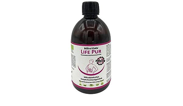 MicroVeda LIFE, Bebida fermentada, 33 pisos bacterianos, 22 hierbas y plantas fermentadas, altamente activada, biodisponible, vegano, crudo, ...