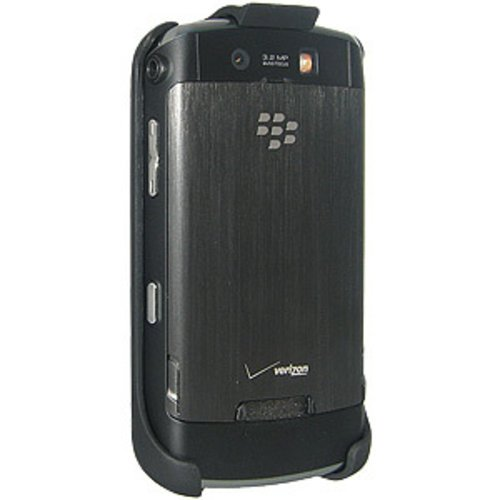 Amzer Rubberized Holster with Belt Clip for BlackBerry Storm 9530 - Black -