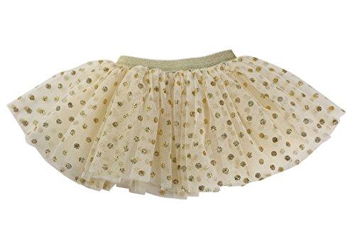 Polka Dot Tulle Skirt (WGOODTECK Newborn Infant Baby Sequin Polka Dot Glitter Soft Tulle Tutu Skirt(12-24M,Ivory))