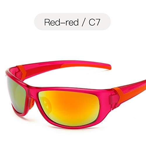 nbsp;Protection Lunettes sunglasses Sport Lunettes de pour gelée de Conduite nbsp;Soleil Pêche Mjia Red UV400 nbsp;Sport de Plein Homme de Couleur air de T5qdxtn