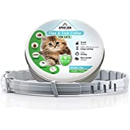 Flea and Tick Prevention Control: Adjustable Hypoallergenic Collar for Cats | 6 Month Continuous Protection for Kittens and Adult Cats | Waterproof and Durable Material | 100% Natural Safe Treatment