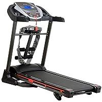 LEEWAY National Bodyline Motorized Treadmill 4 in 1 Multi Function NB-07VB, DC Motor 1.75 HP, Running Area: 48 X 16.8 inch Jogging Machine, Cardio Excersice Equipment (Multicolour)