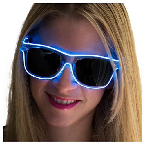 Neon Nightlife Blue Frame/Slightly Tinted Lens Light Up Glasses