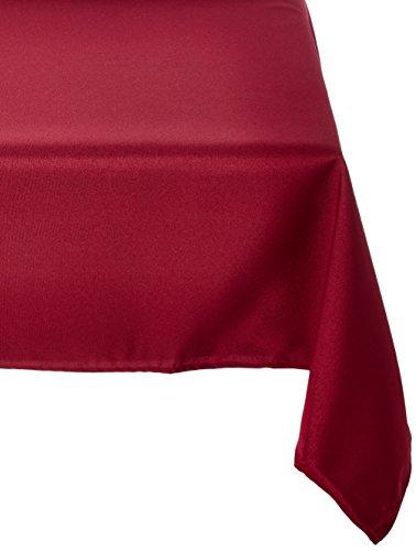 Burgundy Elegance Square Tablecloth (LinenTablecloth 54-Inch Square Polyester Tablecloth Burgundy)
