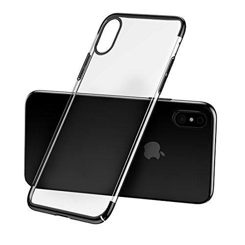 Protege tu iPhone, Baseus para iPhone X chapado duro transparente cubierta de la caja protectora de la PC Para el teléfono celular de Iphone. ( Talla : Ipxg8591b )