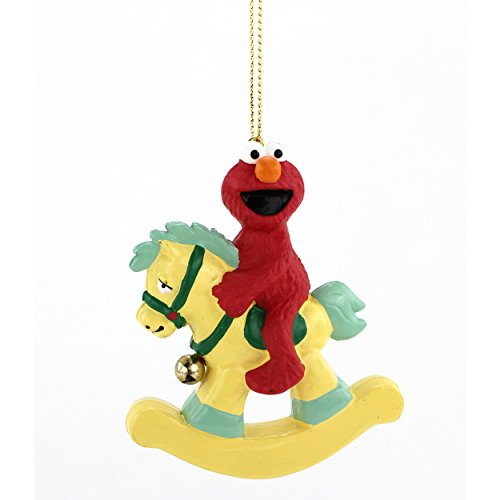 Elmo Rocking Horse Kurt Adler Ornament Gift Boxed