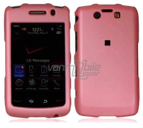 VMG For BlackBerry Storm 2 Storm2 Oden 9550 Cell Phone Matte Faceplate Hard Case Cover - Baby Light Pink (9550 Case Hard Cover)
