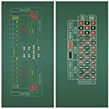 DA VINCI Craps and Roulette 2-Sided 36x72-Inch Casino Felt Layout