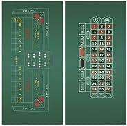 DA VINCI Craps and Roulette 2-Sided 36x72-Inch Casino Felt Layout
