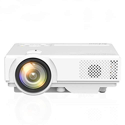 WiFi Projector, Portable Mini LCD Video Projector Full HD 1080P LED Home Theater Projector with HDMI/USB/VGA/AV Input for Smartphones PC Laptop Gaming Devices