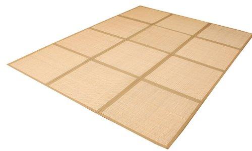 イケヒコ い草ラグ カーペット 3畳 アジアン 『DXマライ草』 約195×260cm(裏:不織布) B001B8NTP8