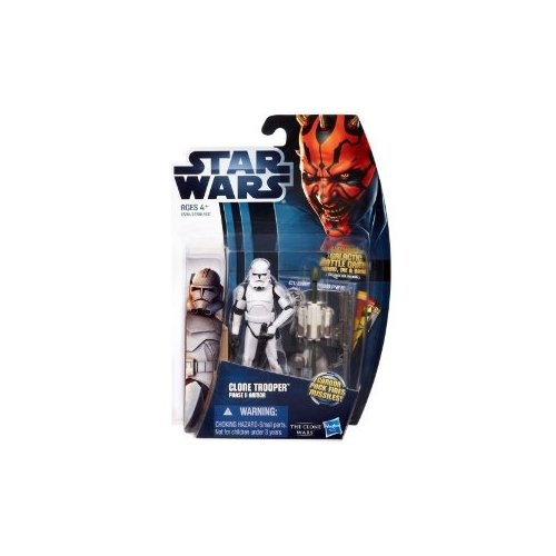 Hasbro Star Wars The Clone Wars Clone Trooper Phase II Armor 3.5 Inch Scale Action Figure ()