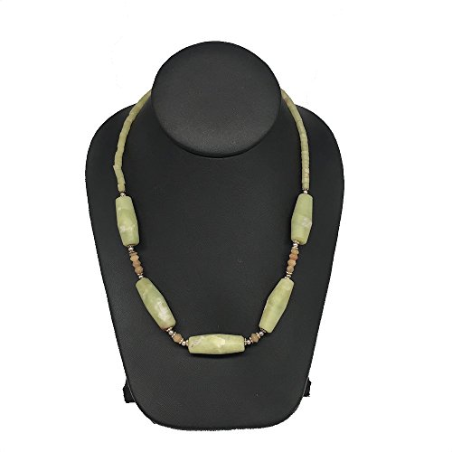 1 strand, 2mm-37mm, Green Nephrite Jade Oval Tube Beaded Necklace Beads Strand Handmade Natural Nephrite Jade,20