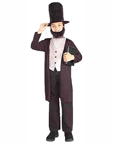 Forum Novelties Kids Abraham Lincoln Costume, X-Large Black