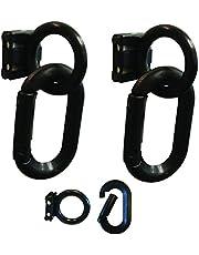 Mr. Chain 72103 Magnet Ring/Carabiner Kit, Pounds Capacity, Volume, Black (Pack of 2)