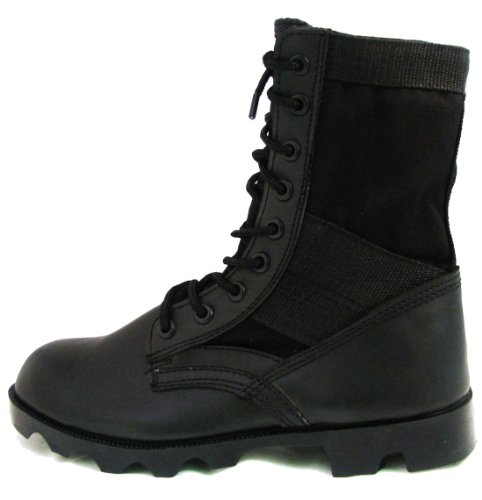 Men's Jungle Boots G.I. Type Lace up Tactical Combat Military Work Shoes Width: Wide (W or 2E), Black