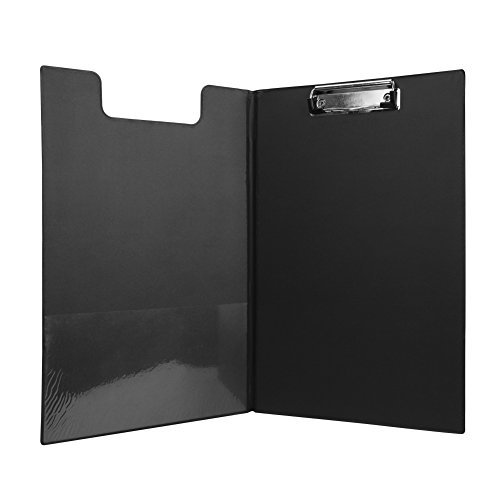 Clipboard FC Size PVC Leather File Holder Metal Clamp Binder Documents File Folder Paper Loose Leaf Documents Holder Drawing Writing School Business Office Conference Clipboard by LONTG