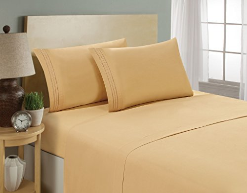 Hotel Luxury Bed Sheets Set- 1800 Series Platinum...