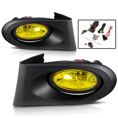 AUTOSAVER88 Fog Lights For Acura RSX 2002 2003 2004 fog lights (Real Glass Yellow Lens with Bulbs & Wiring Harness)