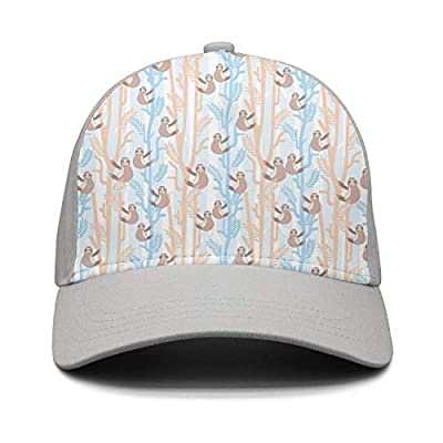 Wlpjsjkd Unisex Cartoon Sloth Crazy Baseball Hat