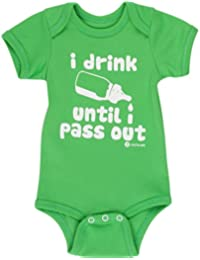 Baby Gifts Fayfaire Boutique Quality I Drink Until I Pass Out Apple Green 0-6M
