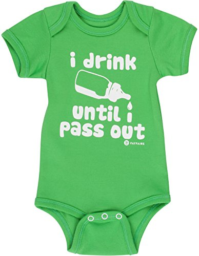 St Patricks Day Baby Shower - Fayfaire Outfit: Boutique Quality Funny I Drink Until I Pass Out 6-12M