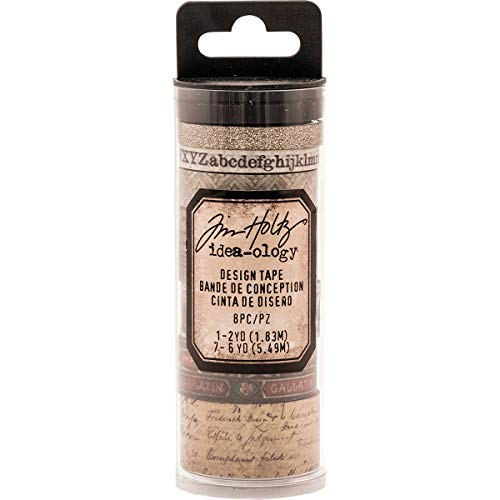- Tim Holtz Idea-ology Aristocrat Design Tape 8-Roll Variety Pack of Washi Tape in Vintage Themes, (TH93359)