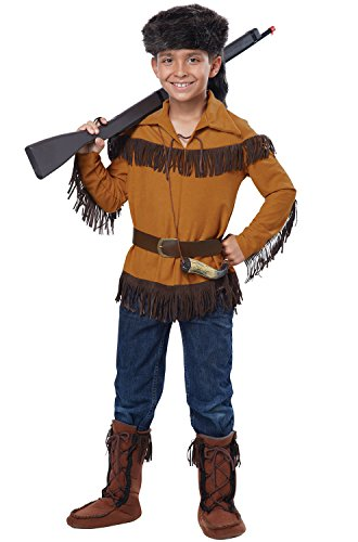 California Pioneer Costume (California Costumes Frontier Boy/Davy Crockett Costume, Medium, One Color)