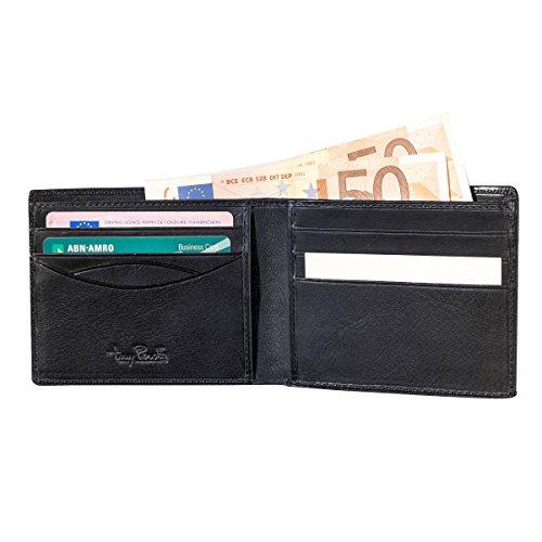 Geldbörse für Herren mit Kreditkartenfach, Farbe Schwarz, TE-2325-ZW
