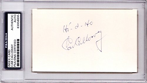 Cab Calloway Signed - Autographed 3x5 inch Index Card with Hi D Ho Inscription - Deceased 1994 - Jazz Singer - PSA/DNA Certificate of Authenticity (COA) (COA) - PSA Slabbed - Celebrity Cab