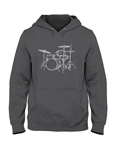 Drums Capuche Batterie shirts De Green Turtle Sweatshirt Design Grus Cool Fan T Printed Foncé Homme Musique xqTqFw8R
