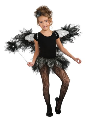 [Rubie's Costume Co Black Fairy Wings Kit, Black, One Size] (Sequin Tinker Bell Adult Costumes)
