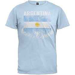 Mens Argentina Vintage Flag Soccer T-shirt