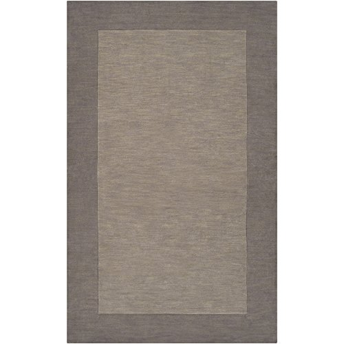 Surya Mystique M-312 Transitional Hand Loomed 100% Wool Elephant Gray 2′ x 3′ Accent Rug For Sale