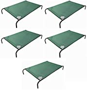 Gale Pacific Coolaroo Pet Bed, Elevated Pet Bed, Raised, Cooling, Washable, Indoor or Outdoor Dog Bed or Cat Bed, Medium (M), Brunswick Green